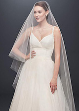 Exquisite Tulle Wedding Veil With Detachable Comb