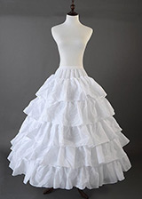 In Stock White Gauze Wedding Petticoat With Elastic Band