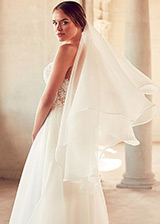 Elegant Organza Fingertip Length Wedding Veil
