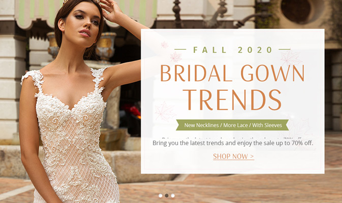 Fall 2020 Bridal Gown Trends Up To 70% Off