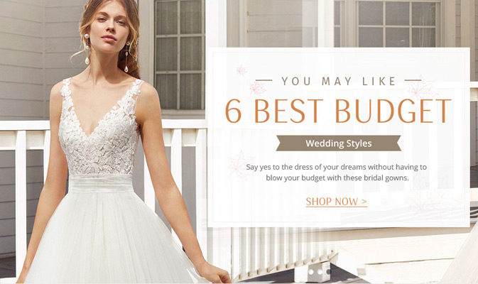6 Best Budget Wedding Dresses Styles